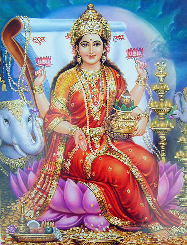 Law of Attraction - Indian Goddess Lakshmi